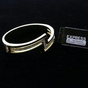 Express gold and crystal lightning clasp bracelet